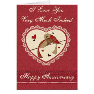 Liebe-Vogel-Jahrestag Karte