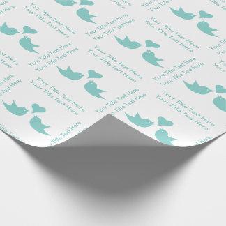 Liebe-Vögel mit Herz-kundenspezifischem Geschenkpapier