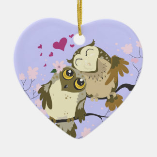 Liebe-Vogel Owls~ornament Keramik Ornament