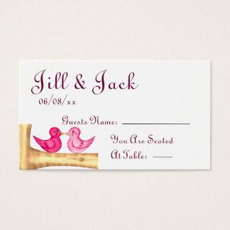 Liebe-Vogel-(rosa) setzende Karten