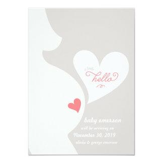 Liebe von der Bauch-Schwangerschafts-der 11,4 X 15,9 Cm Einladungskarte