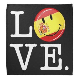 Liebe von lächelnder Flagge Spaniens Halstuch