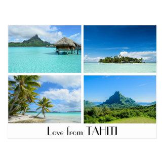 Liebe von Tahiti gestaltet Postkarte