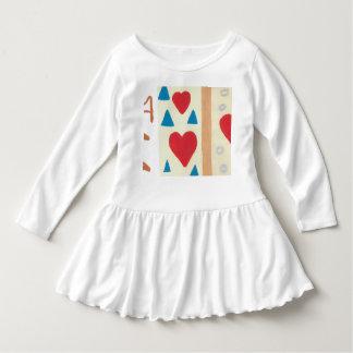 Liebe-Weg-Kleinkind-Rüsche-Kleid Kleid