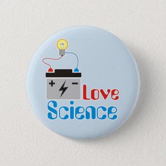 Liebe-Wissenschafts-Knopf Runder Button 5,1 Cm