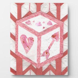 Liebe-Würfel auf einem Gestell Fotoplatte