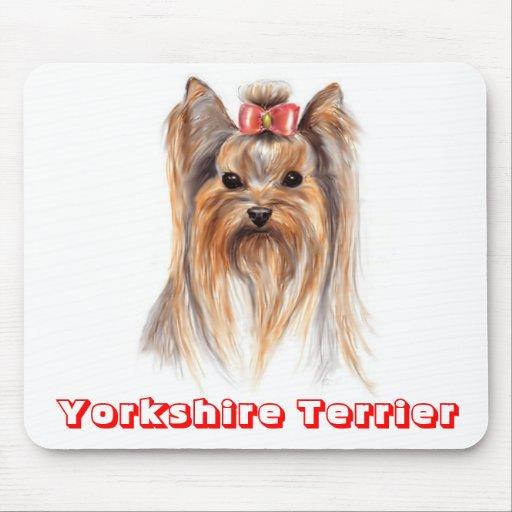 Liebe-Yorkshire-Terrier-Welpen-Hund, der Mousepad