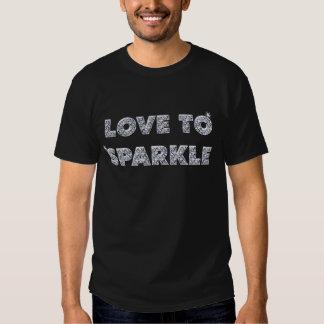 Liebe zu funkeln tshirts