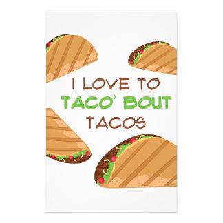 Liebe zum Taco Briefpapier