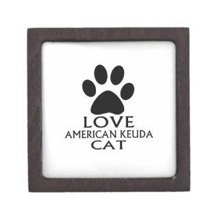 LIEBEamerikanische KEUDA CAT-ENTWÜRFE Kiste