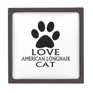LIEBEamerikanische LANGHAARIGE CAT-ENTWÜRFE Schmuckkiste