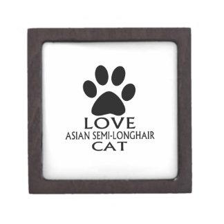 LIEBEasiatische SEMI-LONGHAIR CAT-ENTWÜRFE Schmuckkiste