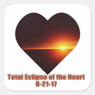 Liebeaufkleber der Solareklipse 8-21-17 Quadratischer Aufkleber