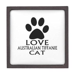 LIEBEaustralische TIFFANIE CAT-ENTWÜRFE Schachtel