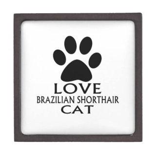 LIEBEbrasilianische SHORTHAIR CAT-ENTWÜRFE Kiste
