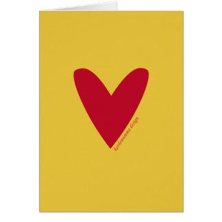 Liebegrußkarte - Herz - glücklicher Valentine Grußkarte