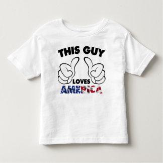 Lieben Amerika dieses Typ Kleinkind T-shirt
