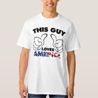 Lieben Amerika dieses Typ T-Shirt