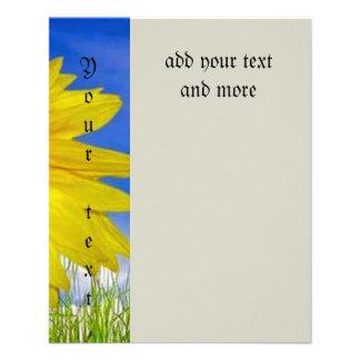 Lieben, glücklich, Sonnenblume, bunt, Blume, 11,4 X 14,2 Cm Flyer