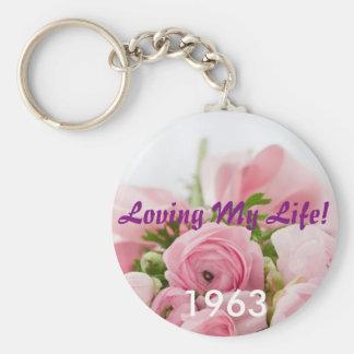Lieben meiner Leben-Geburts-Jahr-Schlüsselkette Schlüsselanhänger