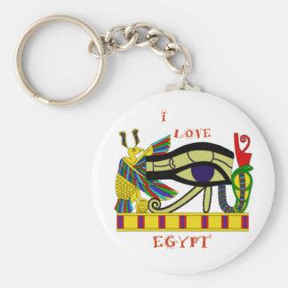 Liebendes Ägypten Standard Runder Schlüsselanhänger