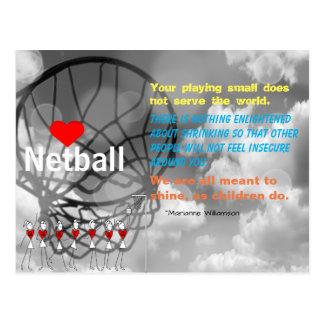 Liebenetball-Entwurf und Inspirational Zitat Postkarte