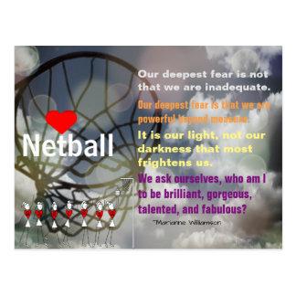 Liebenetball-Thema und Inspirational Zitat Postkarte