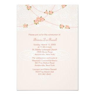 Liebenswürdige Spitze-Einladung 12,7 X 17,8 Cm Einladungskarte