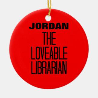 Liebenswürdiger Bibliothekar Keramik Ornament