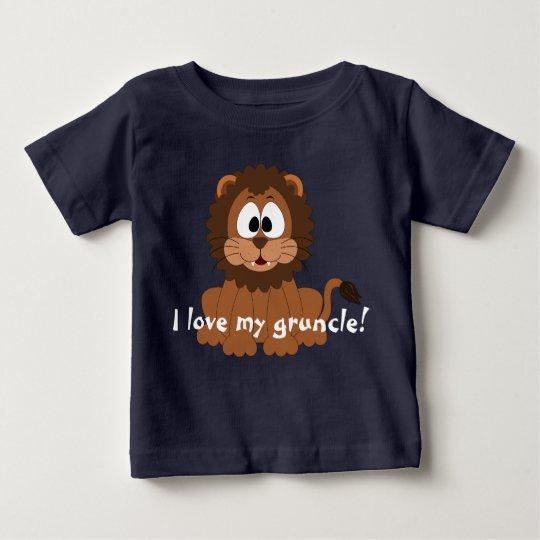"""Liebenswürdiger Löwe mit """"mir Liebe mein gruncle! Baby T-shirt"""