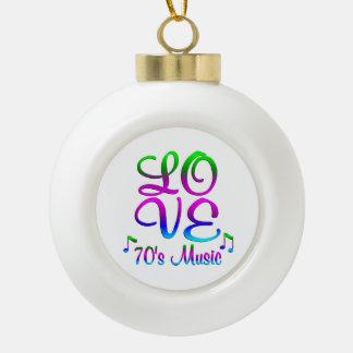 LIEBEsiebziger jahre Musik Keramik Kugel-Ornament
