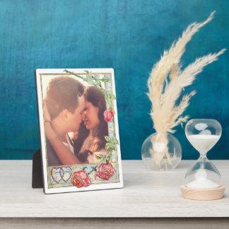 Liebesymbol-Rosen und -herzen Fotoplatte