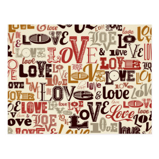 Liebetext-Briefgestaltung Postkarte