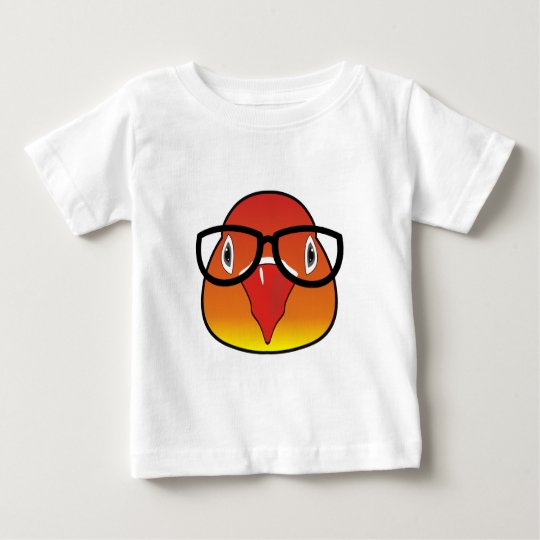 Liebevogel mit Gläsern Baby T-shirt