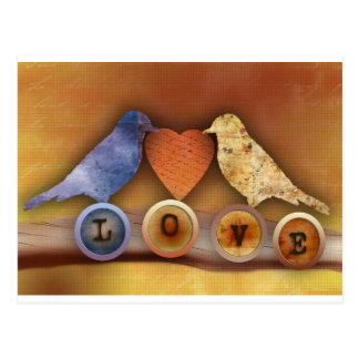 Liebevögel Postkarte