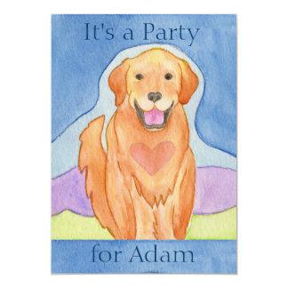 Liebevolle Hundegeburtstags-Party Einladung
