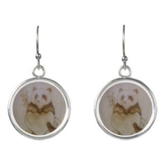 Liebevolle Pandas Ohrringe