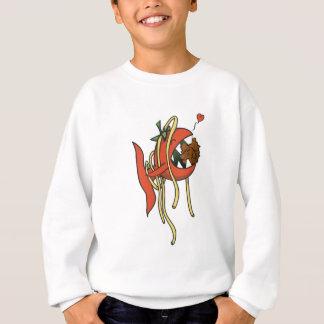 Liebevolle Spaghettis der Tomate-Fische Sweatshirt