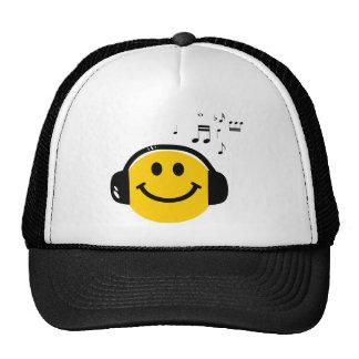 Liebevoller smiley der Musik Kultmütze