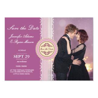 Liebevolles Paartanzen in der Nachtstadt/im rosa 12,7 X 17,8 Cm Einladungskarte