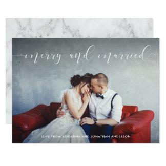 Liebevolles Skript   fröhlich und verheiratet mit Karte