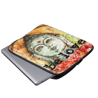 Liebezen-Buddhawatercolor-Kunst-Laptop-Hülse Laptop Sleeve