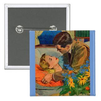 Liebhaber in der Liebe Quadratischer Button 5,1 Cm