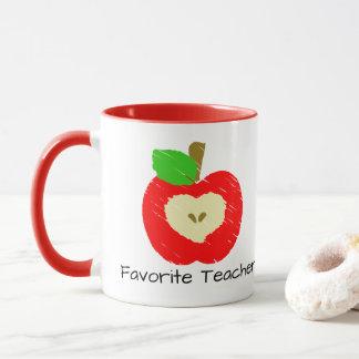 Lieblingslehrer-Apple-Tasse Tasse