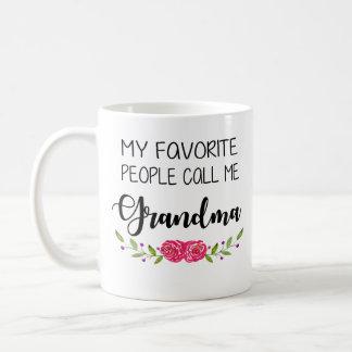 Lieblingsleute rufen mich Großmutter an Kaffeetasse