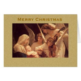 Lied der Engels-Vintagen Weihnachtskarte Karte