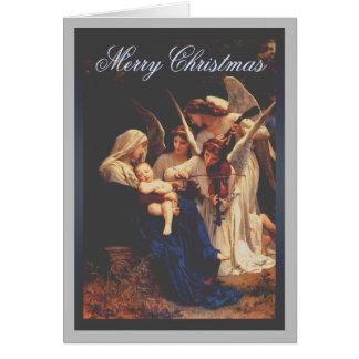 Lied des Engels-Weihnachten Karte