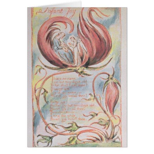 Lieder von Unschuld; Säuglings-Freude, 1789 Karte