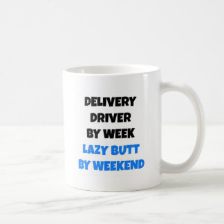 Lieferungs-Fahrer durch Wochen-faulen Hintern bis Kaffeetasse