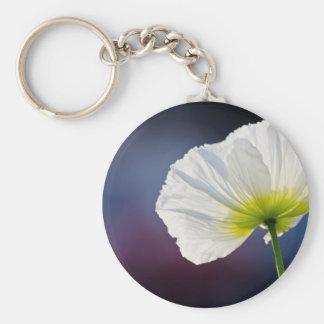 Light white flower porte-clefs